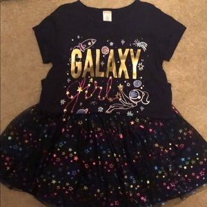 Children's Place Girls Galaxy Shirt and Tutu Set